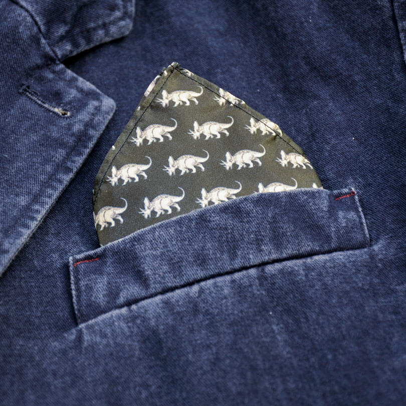 Triceratops Pocket Square