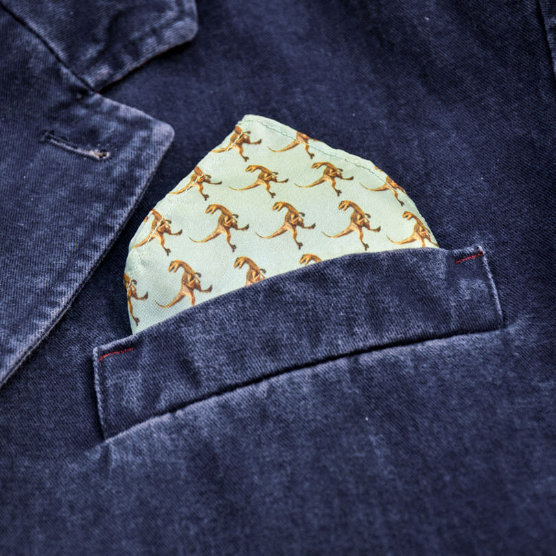 Velociraptor Pocket Square