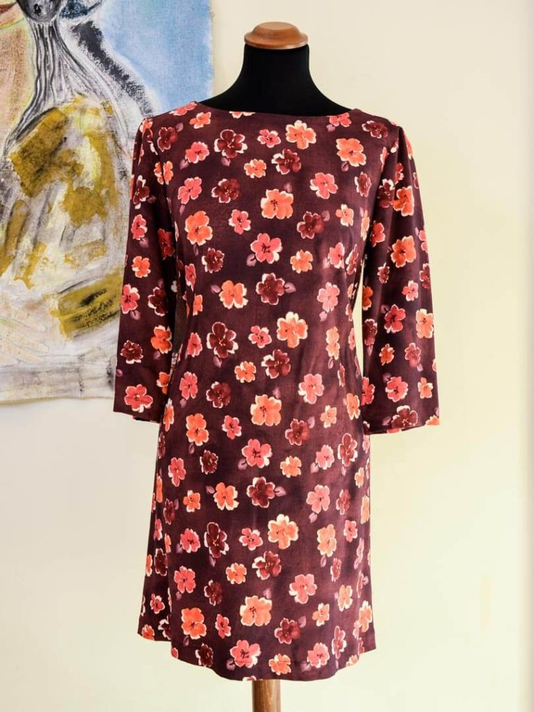 Orange Flowers Dress