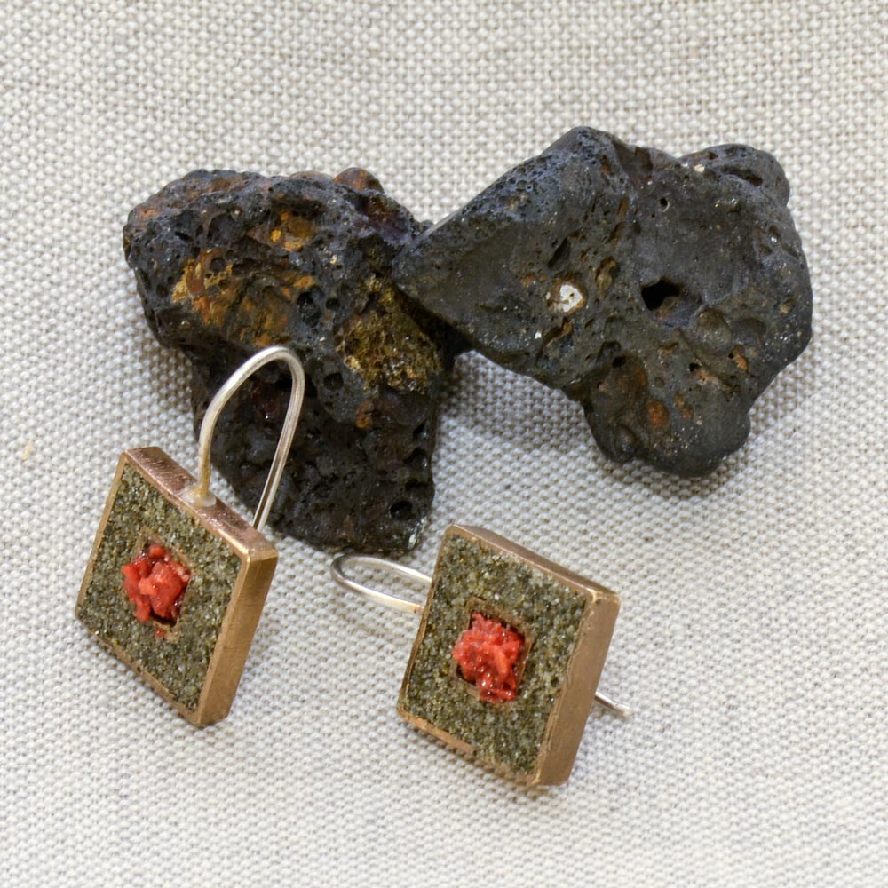 Sand Squares Earrings